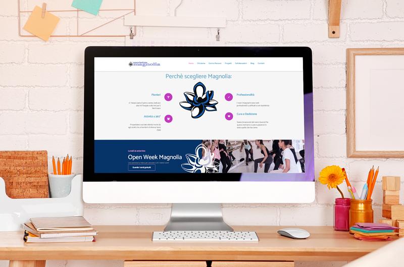 associazione magnolia sito web wordpress enrica michelon